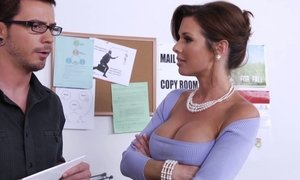 Learning from his busty boss Beeg