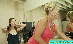 Stepmom teaches stepdaughter how to suck xVideos