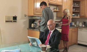 Cheating hot stepmom bangs for breakfast Beeg