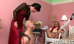 Submissive dude gets humilated