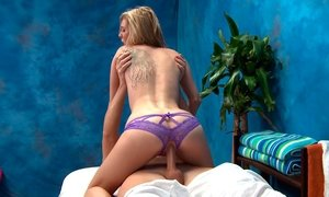 Tiny girl disobeys her massage bed Beeg