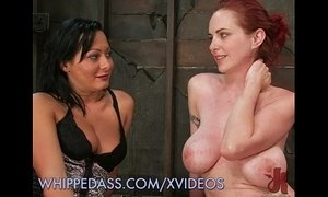 Lesdom Plays Whips Redhead's Ass xVideos