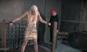 Sex-hungry chick Lorelei Lee is punished in the bdsm room AnySex