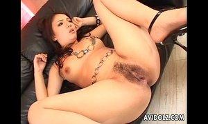 Hairy pussy Asian nailed super hard