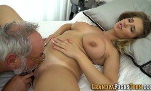 Slut rides old mans dick xVideos