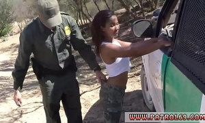 Uk cop Cute Ebony teenager gets plowed in the back of a patrol car xVideos