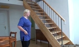 He helps blonde granny xVideos