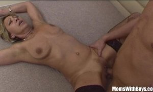 Sexy Blonde Granny In Laced Stockings Fucks Young Cock xVideos