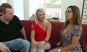 Too spoiled housewife Francesca Le has a threesome with Mark Wood & Kimmy Olsen AnySex
