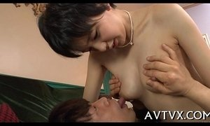 Toying a horny japanese bawdy cleft