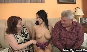 Dirty fossils fuck her as he leaves xVideos
