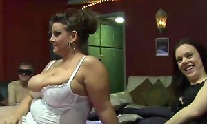 Dudes Fucked Two Sluts in a Gang Bang