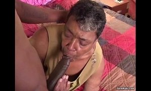 Ebony grandma loves big black cock xVideos