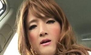 Japanese shemale crossdresser handjobs