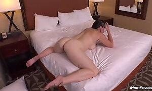 Seducing mature lady fucks in her ass