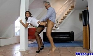 Euro nurse doggystyled by horny old man xVideos