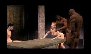 3D Animated Cuckold interracial FUCKING at 3dyank