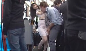 Teen On A Bus Gets Her Pantyhose Ripped And Fucked Upskirt