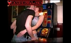 Cheap slut fucked in the middle of a bar xVideos