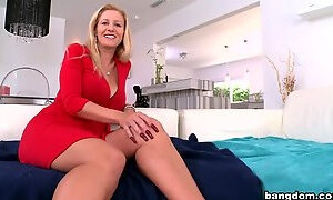 Godly fair-haired English MILF Natalia Phillips in wild hardcore drilling