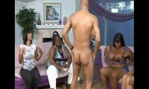 Bunch of black horny women sucking off stripper xVideos