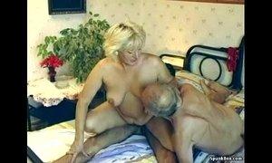 Hairy granny enjoys threesome xVideos
