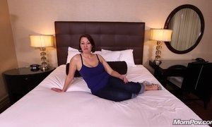 All Natural MILF enjoys Fucking POV