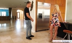 Blonde stepmom Katie Morgan loves son AnalDin