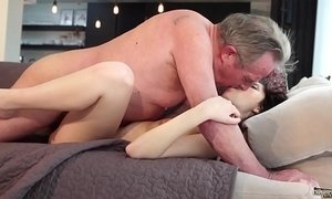 Old and Young Porn - Sweet innocent girlfriend gets fucked by grandpa xVideos