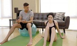 Fun yoga challenge Beeg