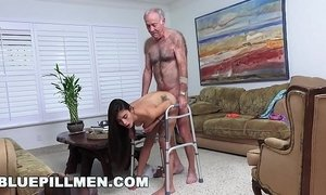 BLUE PILL MEN - Grandpa Popping Pills and Fucking Tight Latina Teen Pussy! xVideos