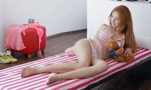 Playful redhead teen Michelle doing herself Beeg