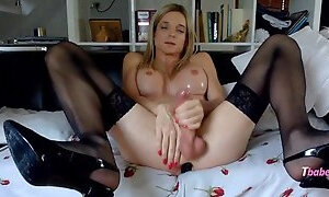 Work your cock for Mommy!