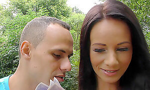 HUNT4K. Slutty girl cheats on boyfriend outdoors in...