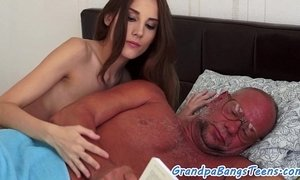 Young babe squirting on grandpas cock xVideos