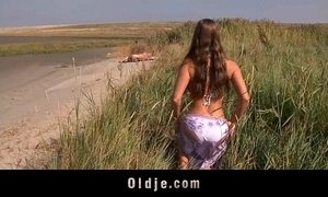 Big boobs teeny fucking oldman on the beach xVideos