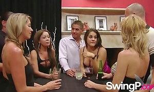Amazing swingers having fun together clip