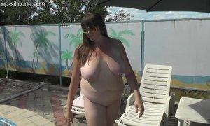 Big natural tits of Elvira from xxxmilf.pro AnalDin
