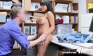 Petite ariana is blackmailed into banging officer when shes caught stealing