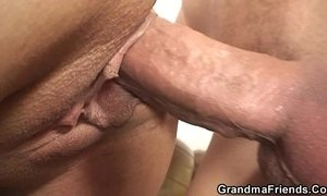 Interracial threesome orgy with granny xVideos