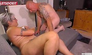 Letsdoeit german chunky granny fucks hard amateur neighbor
