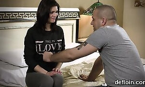 Pretty kitten opens up soft cunt and gets deflorated