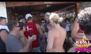 Wild Street Party Flashing in Key West Super High Quality Clip