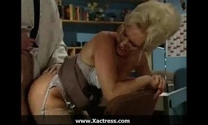 German classic horny mature woman in the office xVideos