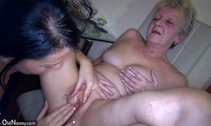 OldNanny Sexy young Girl and skinny old mature have sex with toy xVideos