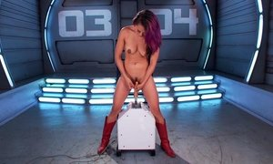 Insatiable babe finds pleasure in machines Beeg