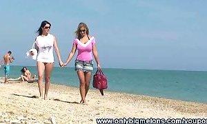 Carol & Adrianne Busty Beach Fun YouPorn